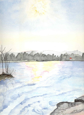 wintersonne über st.heinrich