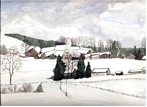 ergertshausen im schnee