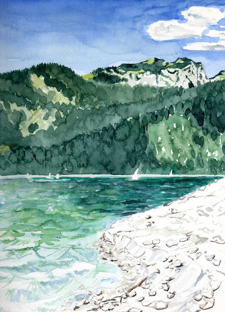 Benediktenwand über dem Walchensee