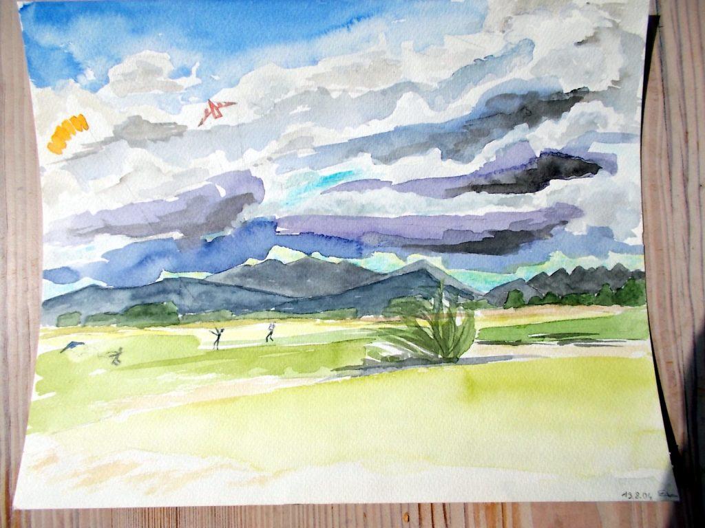 Drachenwind auf der alten Flight