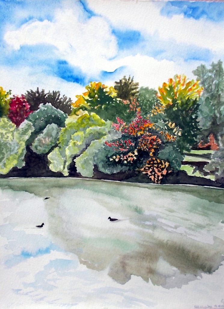 Herbstlaub am Feldmochinger See