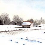 Stadel im Winterlicht