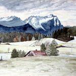 Zugspitze mit erstem Schnee