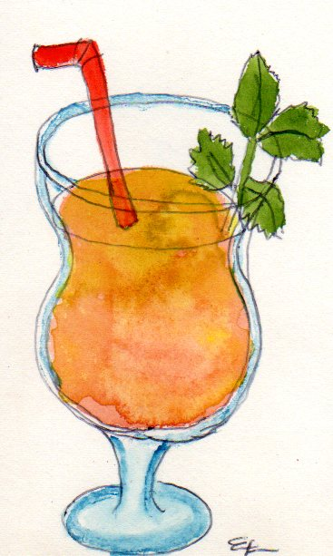 handgemalte Illustration mai-tai