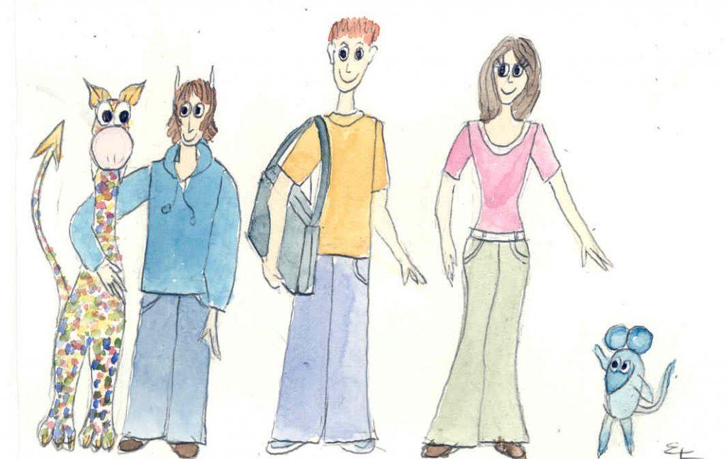Das Team: Nellie, Joey, Joschi, Lexi und Bernhard