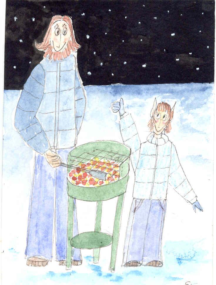 Wintergrillen mit Ritter Rollbert