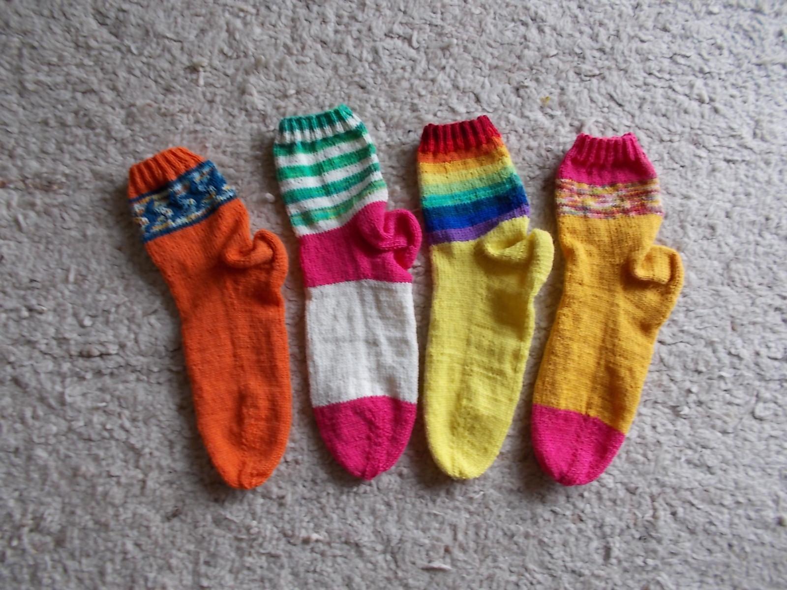 Socken ganz handgestrickt