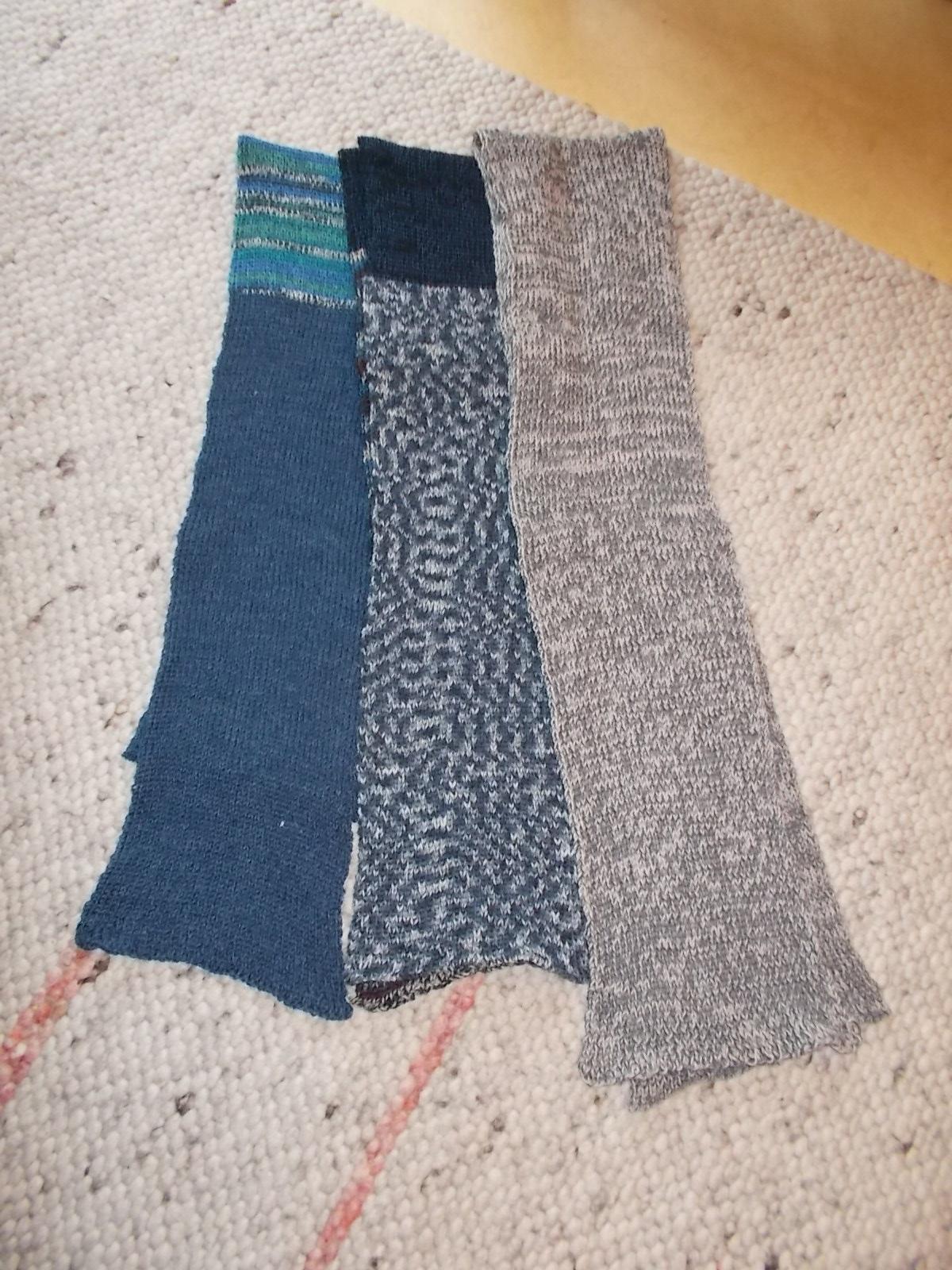 3 Schals blaugrau