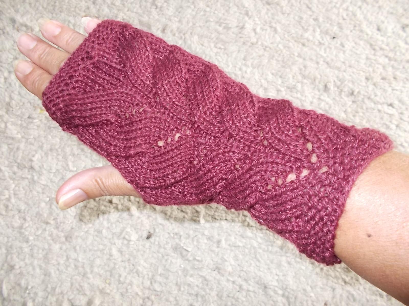 Handstulpen Milady burgund